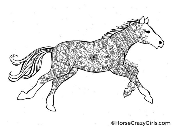 free printable horse coloring pages # 7
