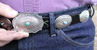 Sterling Silver link concho belt