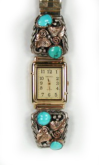 Navajo pawn turquoise watch
