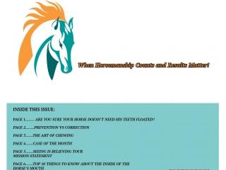 Horsemanship Dentistry Newsletter Volume 1 page 8