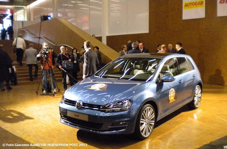 La Volkswagen Golf VII Serie ha sbaragliato il campo. Una scelta conservativa a nostro avviso (© Foto Giacomo Rauli/THE HORSEMOON POST 2013)