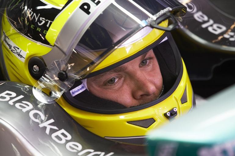 Nico Rosberg, primo anche nella seconda sessione di libere a Montecarlo