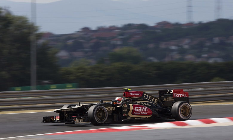 Romain Grosjean sulla Lotus E21 Renault (Photo: Andrew Ferraro/Lotus F1 Team)