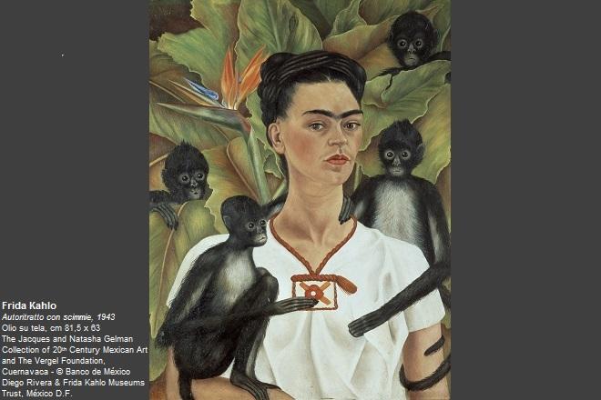Frida Kahlo Autoritratto con scimmie, 1943 Olio su tela, cm 81,5 x 63 The Jacques and Natasha Gelman Collection of 20th Century Mexican Art and The Vergel Foundation, Cuernavaca © Banco de México Diego Rivera & Frida Kahlo Museums Trust, México D.F.