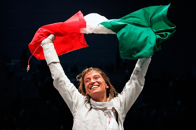 La vittoria del titolo iridato individuale nel 2006 (foto da www.margheritagranbassi.com)