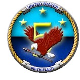 20140615-United_States_Navy_Fifth_Fleet_(insignia)-dx