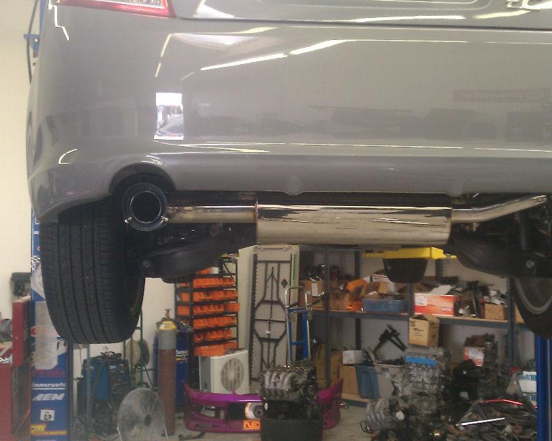 megan racing axle back blue titanium