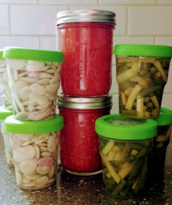 Small batch preserving: tomatoes, lima beans, green beans