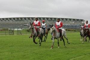 HH Sh Nasser leads on Ascot racecourse