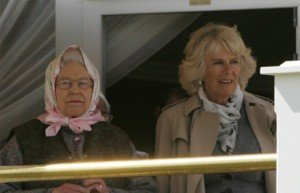 HM The Queen and The Duchess of Cornwall watch the final vetting