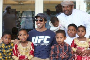 Sheikh Mansoor with fans