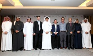 Trainers and Jockey group with QREC heads and Sponsors