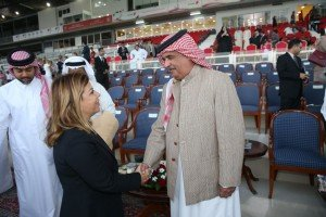 Lara Sawaya with Bahranie representative