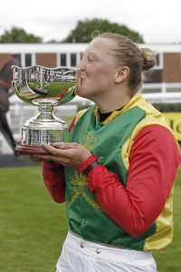 Ellie Mackenzie and EFF trophy