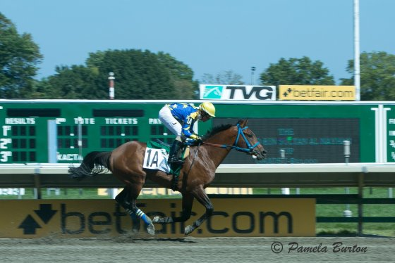 Paddys Day wins at Monmouth, New Jersey 2017 under Keiber Coa