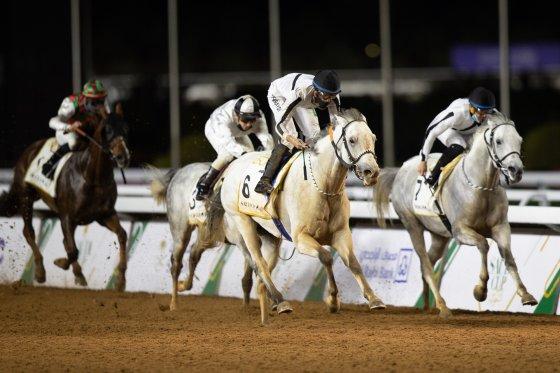 Local rider Adel Alfouraidi maintains golden runCredit: Jockey Club of Saudi Arabia // Neville Hopwood