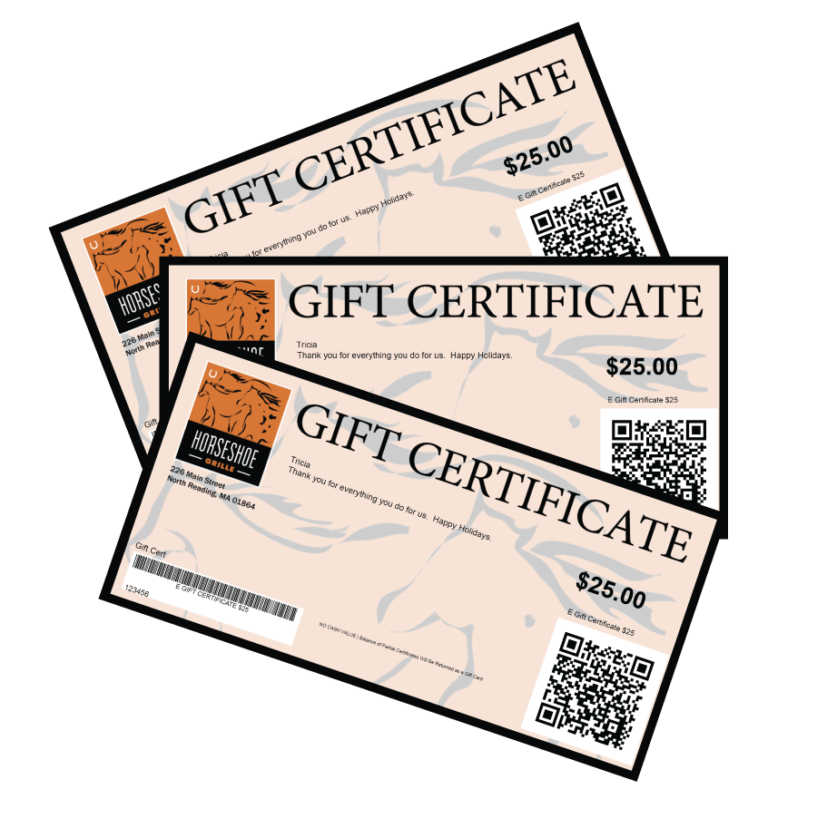 Its Not To Late For E Gift Certificates Horseshoe Grille