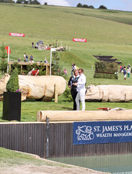 Debate at Barbury's water jump