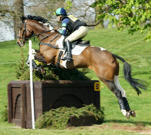 Polly Stockton (GB) and On The Buzzer (retired, Novice C)
