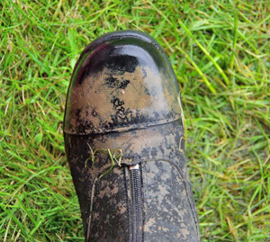 The new Mark Todd Boots are definitely waterproof