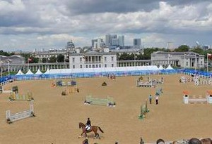 The main arena during the Olympic test event at Greenwich last year.