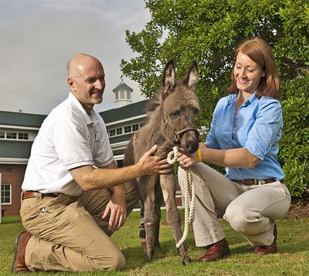 Dr. Fred Caldwell and Dr. Elizabeth Yorke with Emma.
