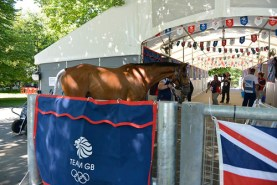 Heading into the Team GB stables at Greenwich Park.