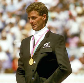 New Zealand eventer Mark Todd on the day he won his first Olympic medal, on Charisma in Los Angeles in 1984.