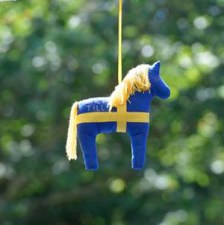 Team Sweden's mascot at the Olympic Stables.