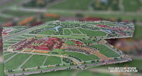 Master plan for Texas A&M University's new equine complex.