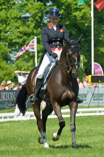 Zara Phillips (GBR) on Black Tuxedo