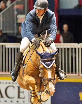 Showgirl carried Yann Candele to his fourth win in the Greenhawk Canadian Cup at the Royal Horse Show in Toronto at the weekend.