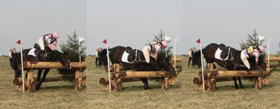 The reverse pinnning system in action at Larkhill, in April 2010.