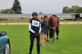 """""""Awesome"""" says Sam Felton, who successfully completed her first 3*, riding Ricker Ridge Pico Boo"""