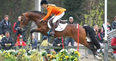 Dutch team member Babette Kuijpers with Cosmo's Van Orchid.