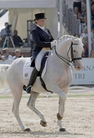 Russia's Alexandra Korelova and Balagur compete in the Kur at the 2007 European Dressage Championships. Picture is for illustration purposes only. Picture: © Dirk Caremans/FEI