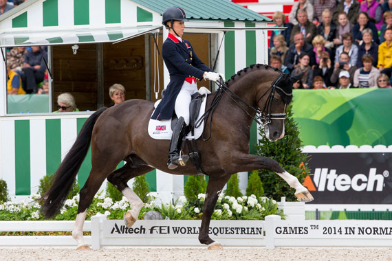 GP Freestyle winners Charlotte Dujardin and Valegro.