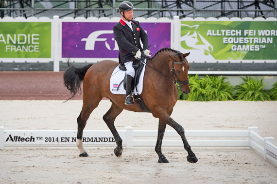 Great Britain's Lee Pearson and Zion are leading Grade Ib after the first day of para-dressage competition.