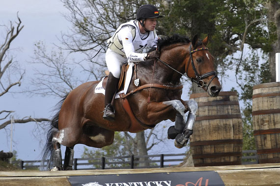 Defending world champion Michael Jung with La Biosthetique Sam FBW, seen here en route to gold at the 2010 Games in Kentucky, will be bidding to retain his title and claim a team spot for Germany at the Rio 2016 Olympic Games.