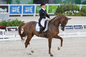 Bella Rose and Isabell Werth at the 2014 World Equestrian Games.