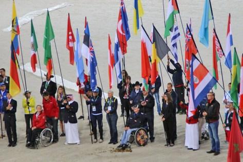 All the flag bearers.