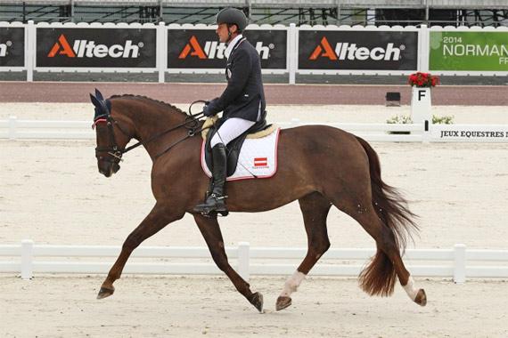 Grade Ib silver medalist, Pepo Puch of Austria on Fine Feeling S.