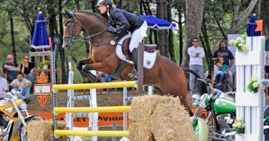 Charlotte Hachmeister and Kassio 10, individual gold medalists at the FEI European Young Riders Eventing Championships.