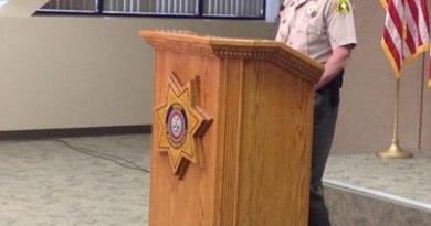 Sheriff John McMahon at Friday's press conference.