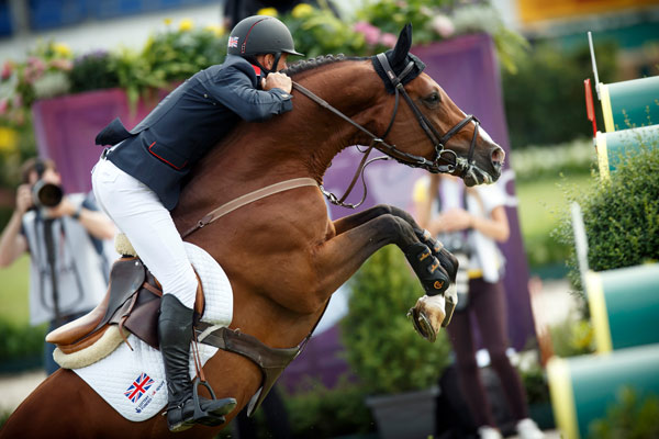 Britain's Joe Clee and Utamaro d'Ecaussines finished third in the first qualifier.