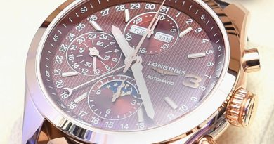 Detail of the special Triple Crown Longines timepiece.