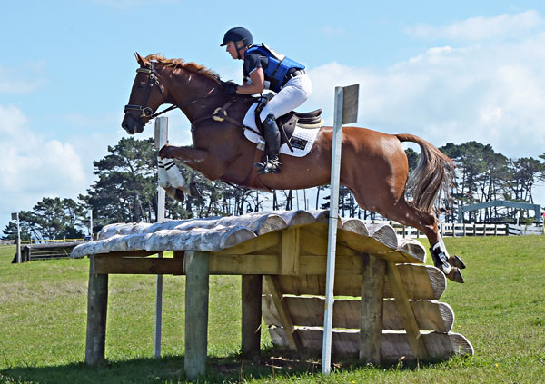Katharine Van Tuyl andDouble J Sunshine on cross-country at Puhinui over the weekend.