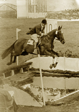 Hans Günter Winkler and Halla on their way to individual and team gold at the 1956 Olympic Games.