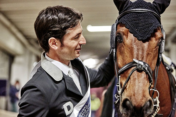 London 2012 Showjumping gold medalist Steve Guerdat, pictured with his 2016 World Cup-winning mount Corbinian.