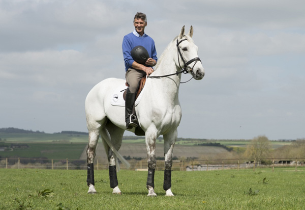 Andrew Nicholson and Avebury at home at Westwood Stud.